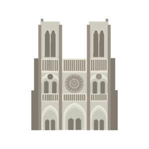 Flatdesign Paris / Notre Dame