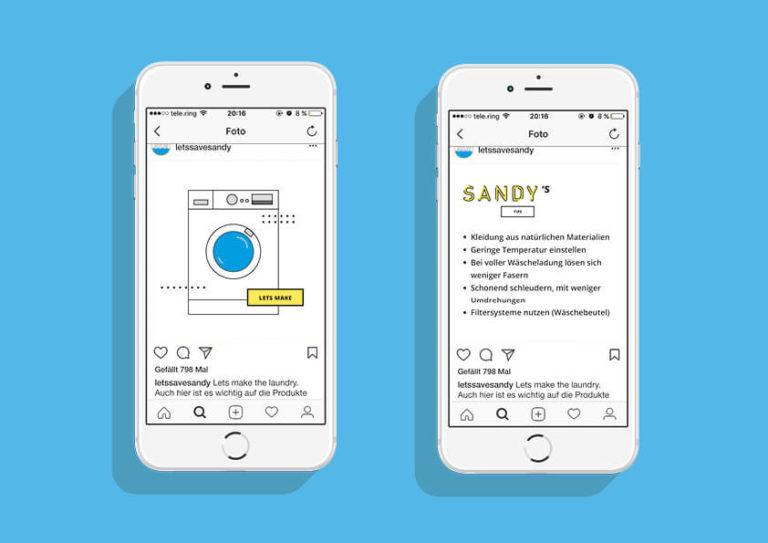 Sandy / Instagram Beitrag